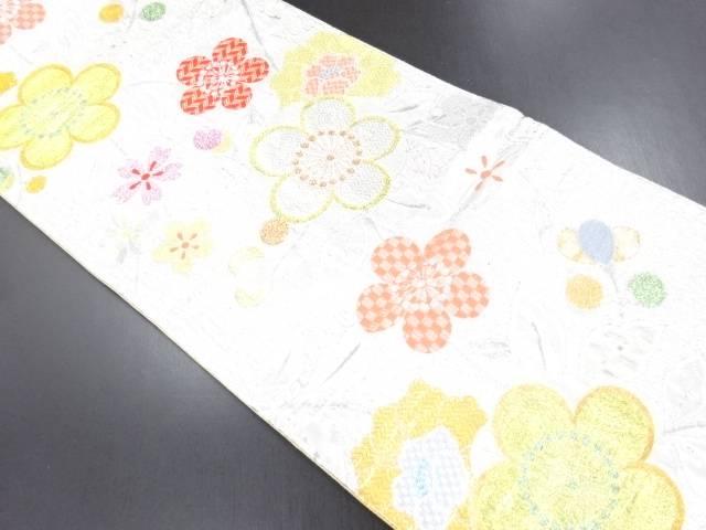【IDN】 金銀糸梅桜模様織り出し袋帯【リサイクル】【中古】【着】