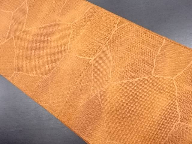 【IDN】 本場筑前博多石畳模様織り出し洒落袋帯【リサイクル】【中古】【着】