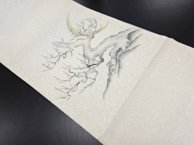 【30%OFF】【IDN】 金通し手描き樹木に三日月模様袋帯【リサイクル】【中古】【着】
