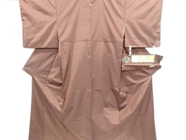 【IDN】 未使用品 仕立て上がり のり散らし模様本場泥大島紬一つ紋着物【着】