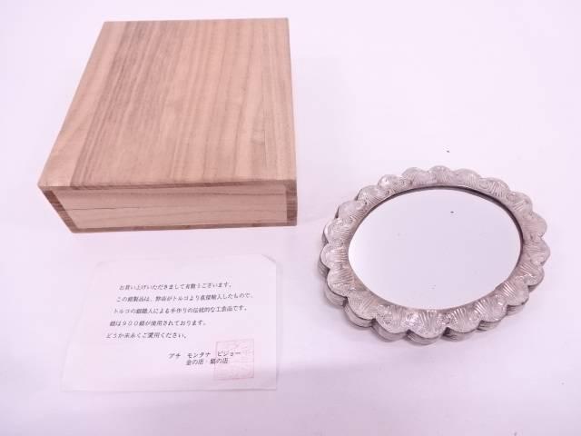 【IDN】 トルコ製 900銀細工飾り鏡【中古】【道】
