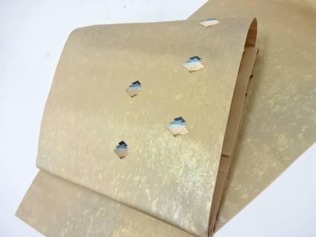 【IDN】 袋帯 ぼかしに幾何学文様 金駒刺繍 金銀箔【新品】【中古】【着】