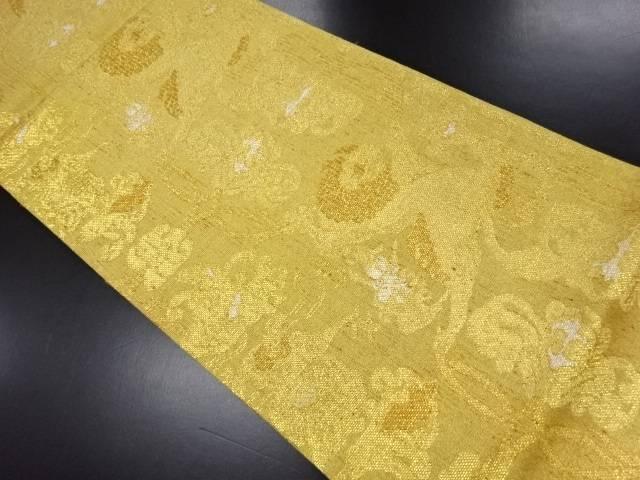 【IDN】 未使用品 金糸花鳥更紗模様織り出し袋帯【リサイクル】【着】