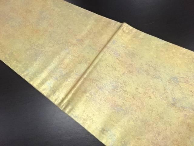【IDN】 未使用品 草木染引き箔袋帯【リサイクル】【着】
