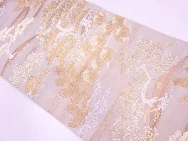 【IDN】 川島織物製 松竹に桜模様織出し袋帯【リサイクル】【中古】【着】