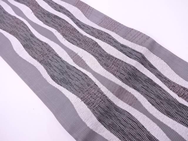 【IDN】 よろけ縞模様織出し袋帯【リサイクル】【中古】【着】