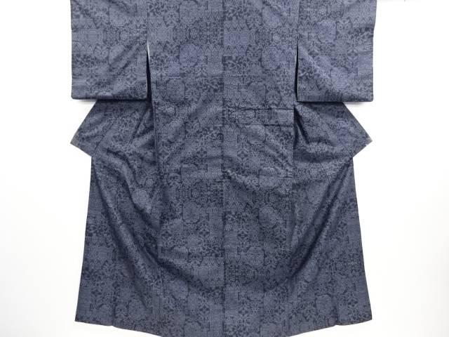 【IDN】 更紗模様織り出し本場泥大島紬着物(9マルキ)【リサイクル】【中古】【着】