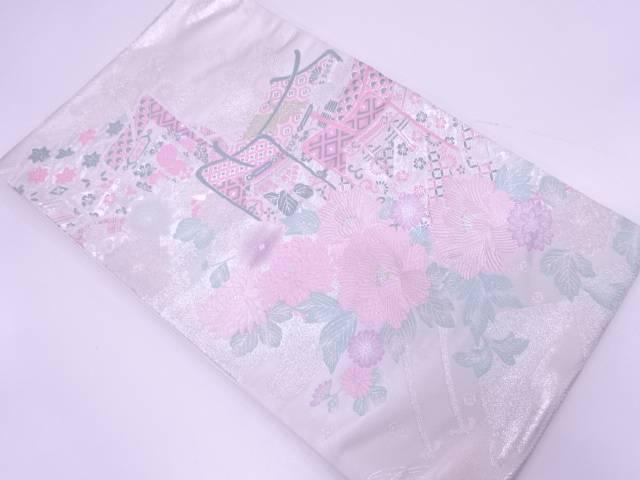【IDN】 未使用品 花車模様織出し袋帯【リサイクル】【着】