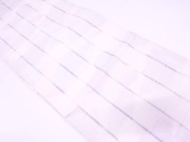 【IDN】 格子模様織出し袋帯【リサイクル】【中古】【着】