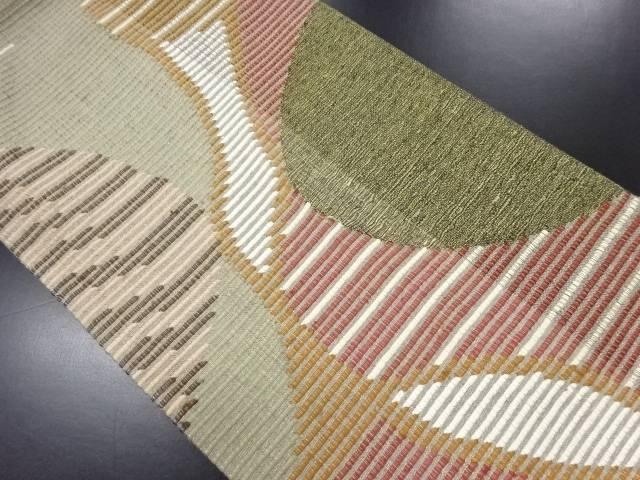【IDN】 金通し変わり織抽象模様織り出し袋帯【リサイクル】【中古】【着】