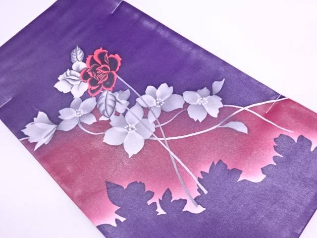 【IDN】 未使用品 薔薇模様袋帯【リサイクル】【着】