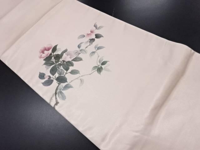 【IDN】 手描き枝椿模様袋帯【リサイクル】【中古】【着】