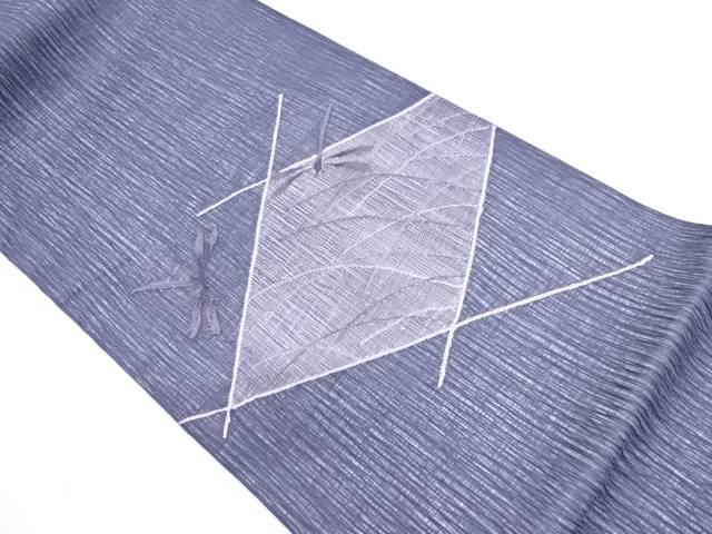 【IDN】 すくい織蜻蛉に芝草模様織出し袋帯【リサイクル】【中古】【着】
