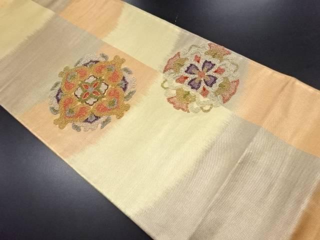【IDN】 相良刺繍華紋模様袋帯【リサイクル】【中古】【着】