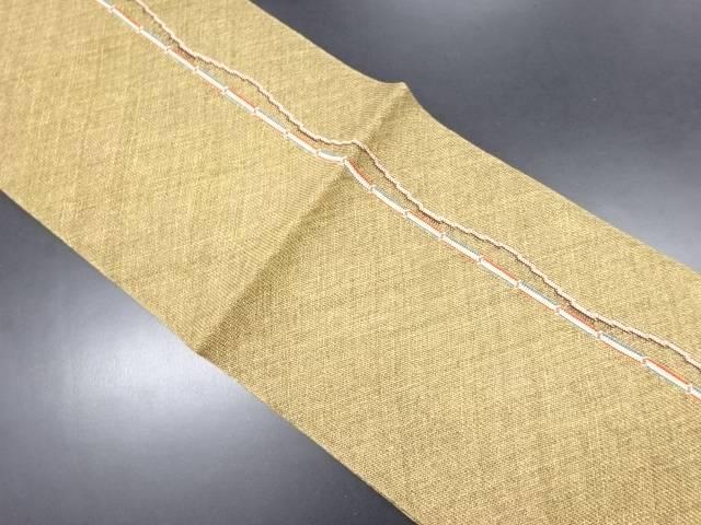 【IDN】 未使用品 金通し縞織り出し名古屋帯【リサイクル】【着】