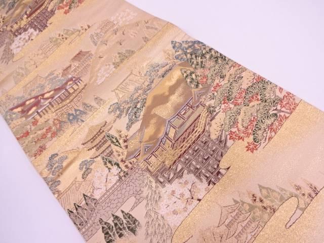 【IDN】 本金二重箔清水寺模様織出し袋帯【リサイクル】【中古】【着】