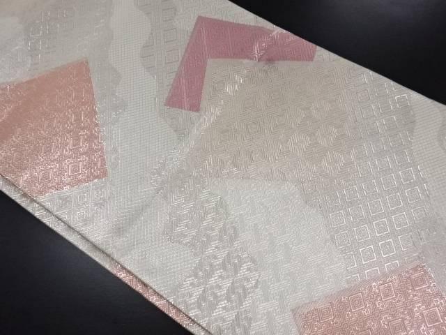 【30%OFF】【IDN】 佐賀錦道長取に色紙散らし模様織り出し袋帯【リサイクル】【中古】【着】