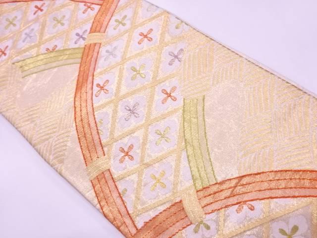 【IDN】 光悦垣に花模様織出し袋帯【リサイクル】【中古】【着】