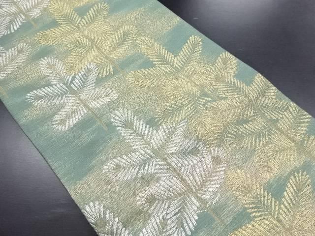 【IDN】 金糸若松模様織り出し全通袋帯【リサイクル】【中古】【着】