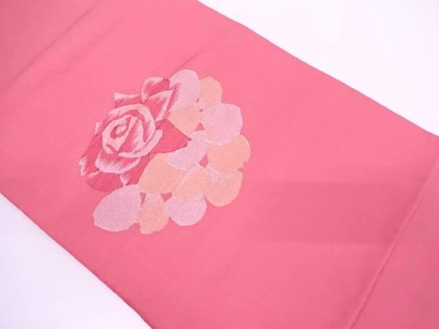 【IDN】 未使用品 綴れ花模様織出し袋帯【リサイクル】【着】