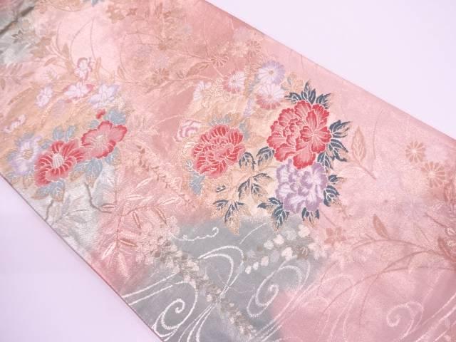【IDN】 秋草に観世水模様織出し袋帯【リサイクル】【中古】【着】
