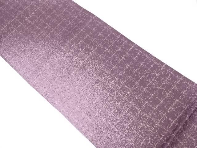【IDN】 格子に抽象模様織出し全通袋帯【リサイクル】【中古】【着】
