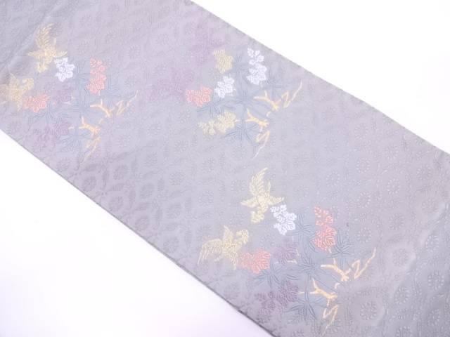 【IDN】 山口美術織物製 唐織花鳥模様織出し袋帯【リサイクル】【中古】【着】