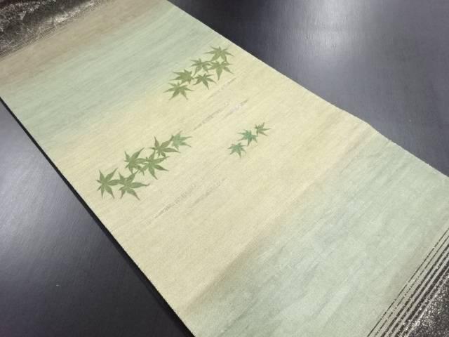 【IDN】 引箔螺鈿紅葉模様袋帯【リサイクル】【中古】【着】