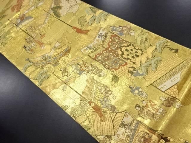 【IDN】 本金洛中洛外図織り出し袋帯【リサイクル】【中古】【着】