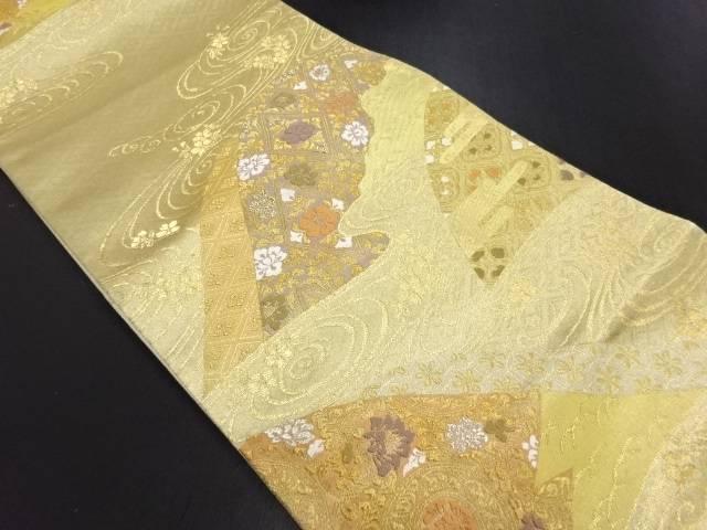 【IDN】 本金遠山に花菱模様織り出し袋帯【リサイクル】【中古】【着】