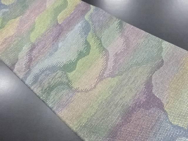 【IDN】 泥染め霞模様織り出しリバーシブル袋帯【リサイクル】【中古】【着】