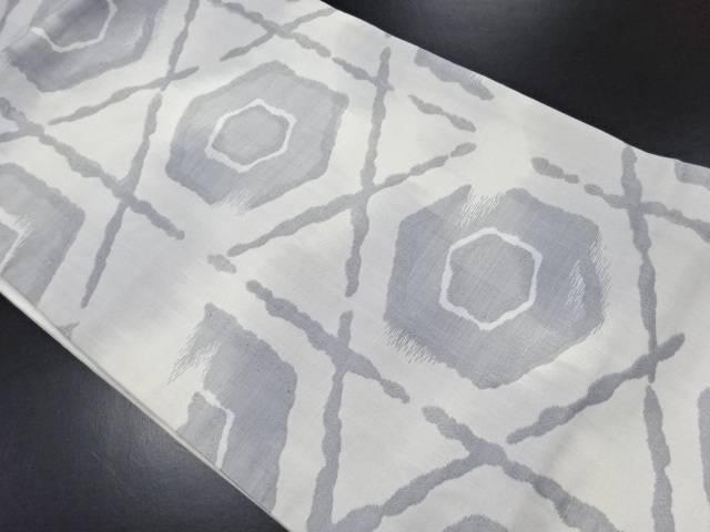 【IDN】 籠目に亀甲模様織り出し名古屋帯【リサイクル】【中古】【着】