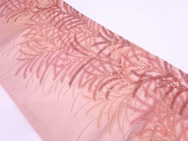 【IDN】 草花に小花模様織出し袋帯【リサイクル】【中古】【着】