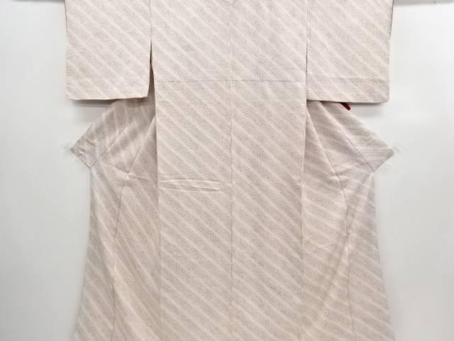 【IDN】 本総絞り 斜め縞模様小紋着物(重ね衿付き)【リサイクル】【中古】【着】
