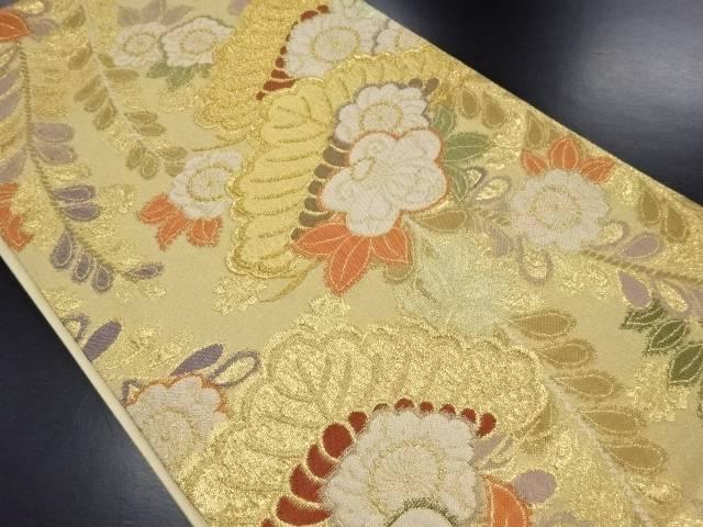 【IDN】 本金松・藤模様織り出し袋帯【リサイクル】【中古】【着】
