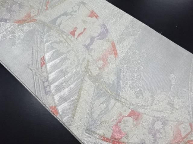 【IDN】 佐賀錦几帳に鳳凰・宝尽くし模様織り出し袋帯【リサイクル】【中古】【着】