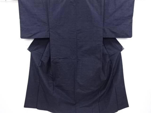 【30%OFF】【IDN】 織り柄手織り真綿紬男物着物アンサンブル【リサイクル】【中古】【着】