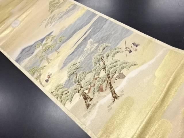 【IDN】 金糸秋風月之図織り出し袋帯【リサイクル】【中古】【着】