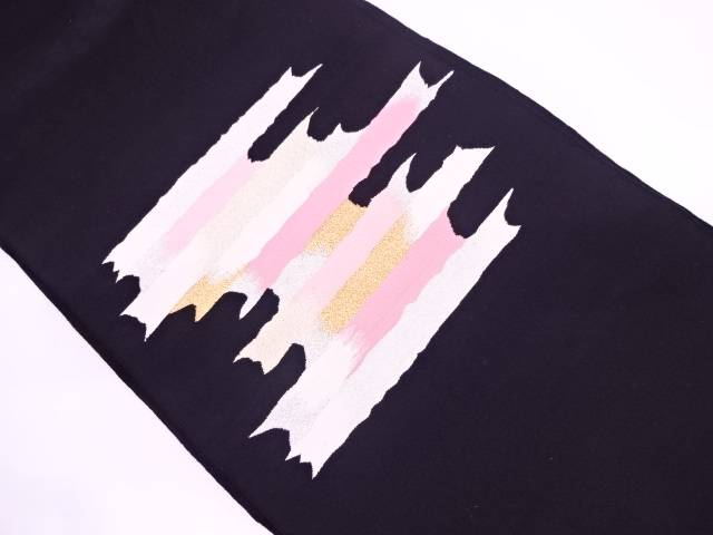 【IDN】 本綴れ抽象模様織出し名古屋帯【リサイクル】【中古】【着】
