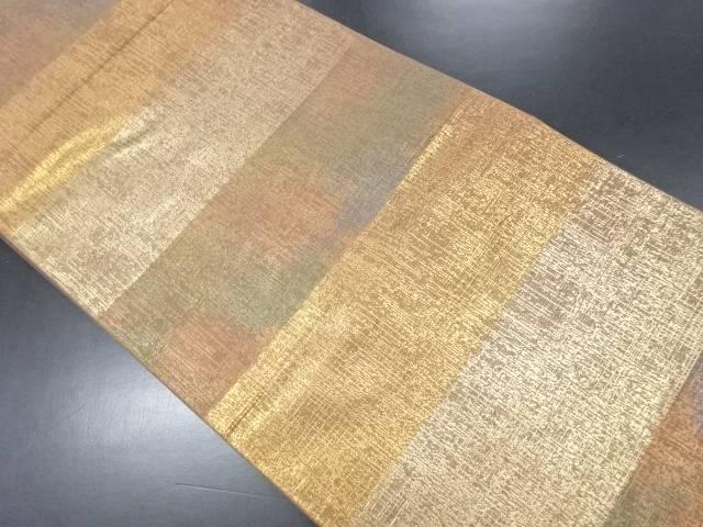 【IDN】 引箔横段模様織り出し袋帯【リサイクル】【中古】【着】