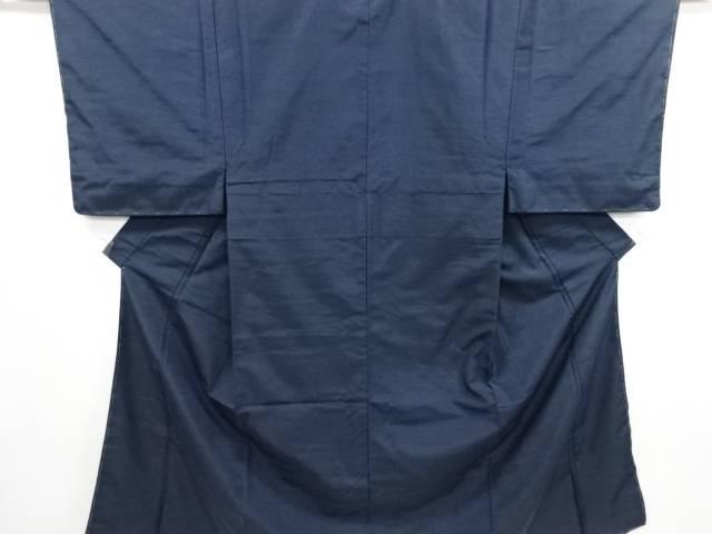 【IDN】 未使用品 手織り真綿ひげ紬男物着物アンサンブル・角帯・中帯セット【リサイクル】【着】
