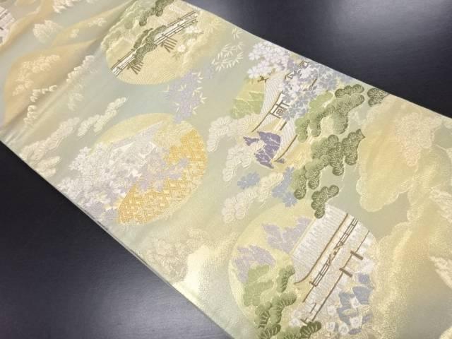 【IDN】 本金箔 名所風景模様織り出し袋帯【リサイクル】【中古】【着】