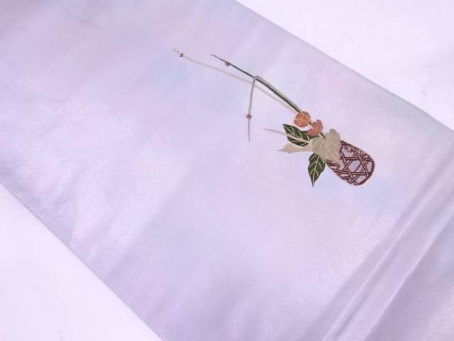 【IDN】 蘇州刺繍花籠模様袋帯【リサイクル】【中古】【着】