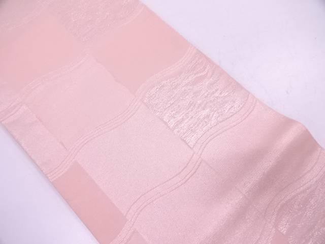 【IDN】 紗 変わり格子模様織出し袋帯【リサイクル】【中古】【着】