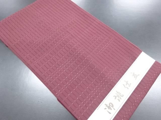 【IDN】 未使用品 変わり織 格子織り出し名古屋帯【リサイクル】【着】