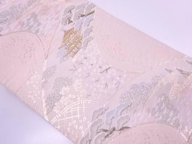 【IDN】 金閣寺に松・桐模様織出し袋帯【リサイクル】【中古】【着】