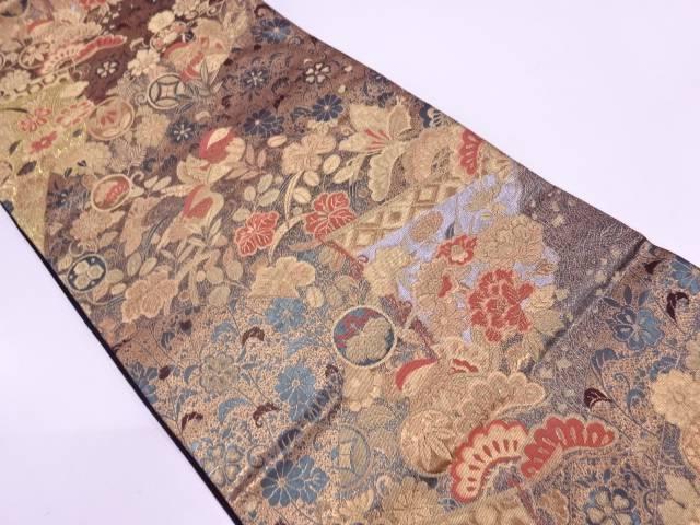 【IDN】 やまひで製 重文彫金文織出し袋帯【リサイクル】【中古】【着】