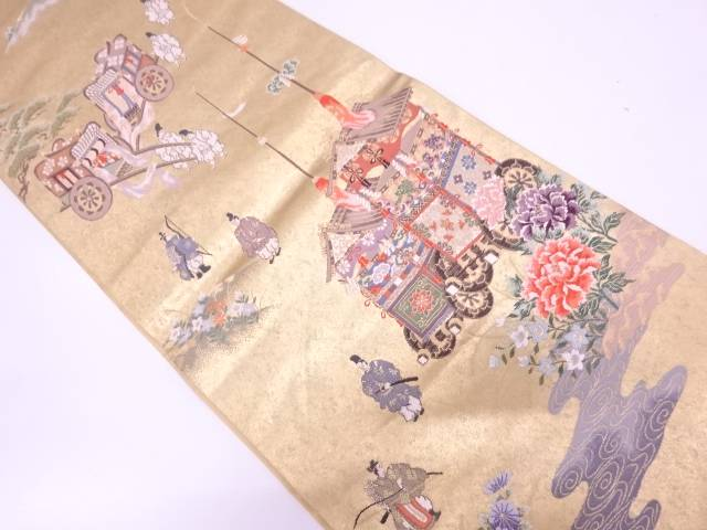 【IDN】 時代絵巻紋織出し袋帯【リサイクル】【中古】【着】