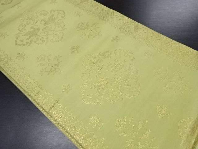 【IDN】 向かい鳥華紋織り出し袋帯【リサイクル】【中古】【着】