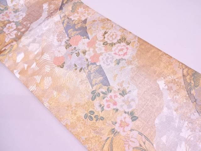【IDN】 山河華乃丸模様織出し袋帯【リサイクル】【中古】【着】